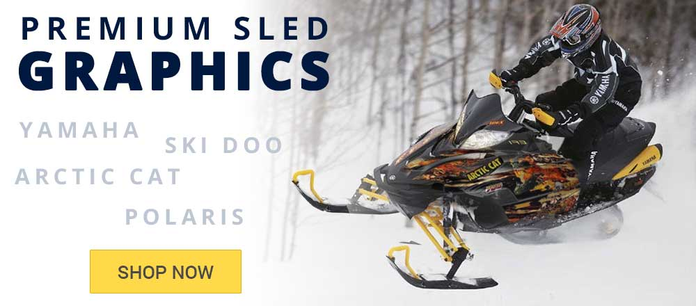 Premium Snowmobile Sled Graphic Kits