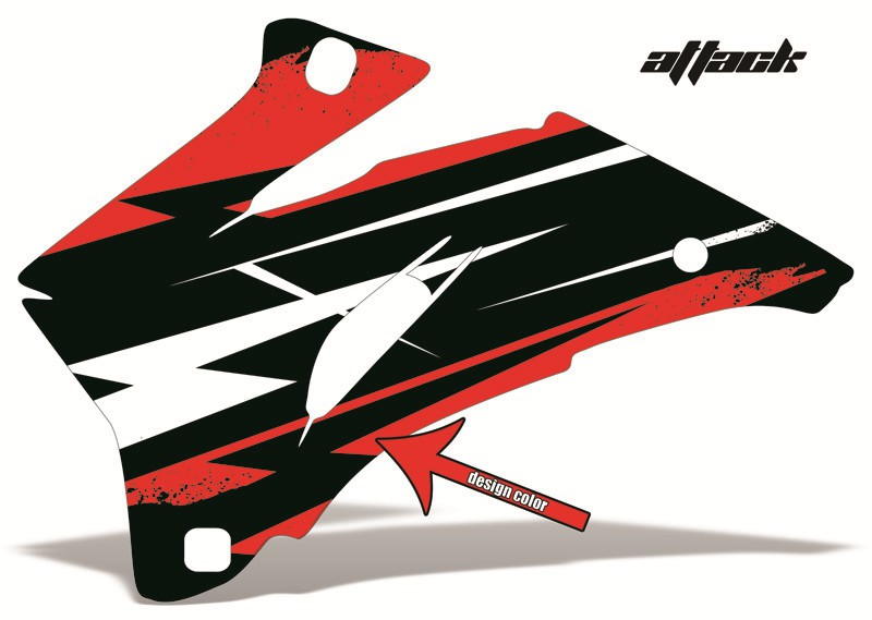 kawasaki z125 pro dirt bike graphics: attack - red mx graphic wrap