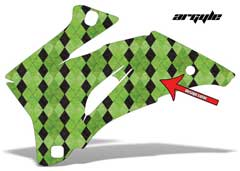 <b>Argyle</b><br />Only the design color can be changed in this design. This sample image shows: Design Color = Green, Background Color = NA