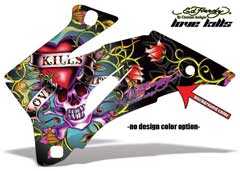 <b>Ed Hardy - Love Kills</b><br />No options for design color. This sample image shows: Design Color = NA, Background Color = Black
