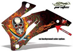 <b>Ed Hardy - Pirates</b><br />No options for Background color. Design Color selection determines the color of the Starburst pattern. This sample image shows: Design Color = Red, Background Color = NA