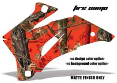 <b>Fire Camo</b><br />No options for Design Color or Background color. MATTE FINISH ONLY - This sample image shows: Design Color = NA, Background Color = NA