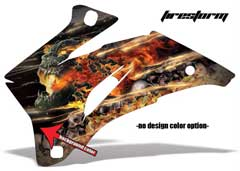 <b>Firestorm</b><br />No options for design color. Creature head and flames will remain grey as pictured. This sample image shows: Design Color = NA, Background Color = Black