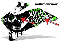 <b>Killer Circus</b><br />Design color & Background color can be changed in this design. This sample image shows: Design Color =