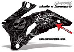 <b>Skulls n Hammers</b><br />Design color can be changed in this design. No options for Background color Remains Black. Design Color selection determines the color of the Wing pattern. This sample image shows: Design Color = Silver, Background Color = NA