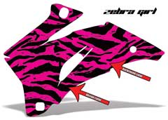 <b>Zebra Girl</b><br />Background color and Design Color can be changed in this design. This sample image shows: Design Color = Black, Background Color = Pink