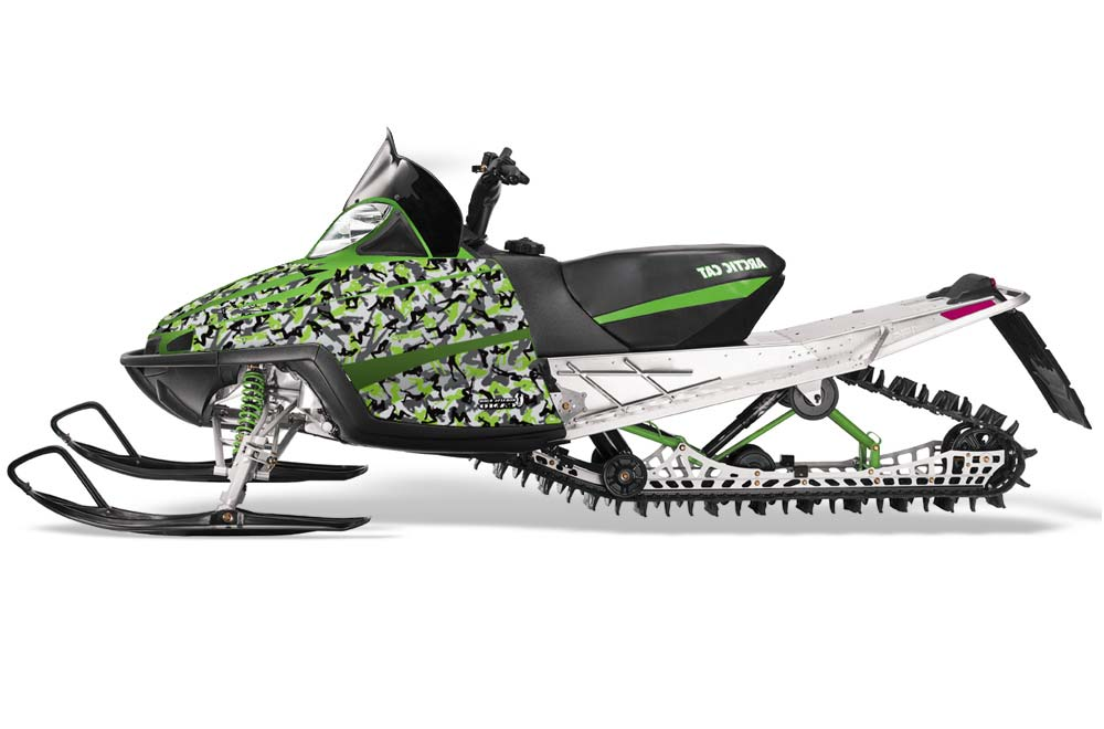 Arctic Cat M Series Crossfire Sled Graphics: Urban Camo - Green Snowmobile Graphic Decal Wrap Kit