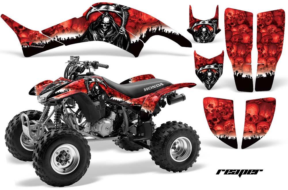 Honda TRX 400EX ATV Graphics: Reaper - Red Quad Decal Wrap Graphic Kit