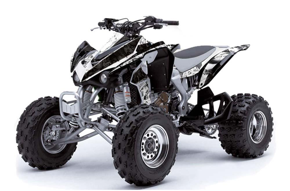 kawasaki kfx 450 atv graphics madhatter white black quad graphic Honda 450 ATV kawasaki kfx 450 atv graphics madhatter white black quad graphic decal wrap kit