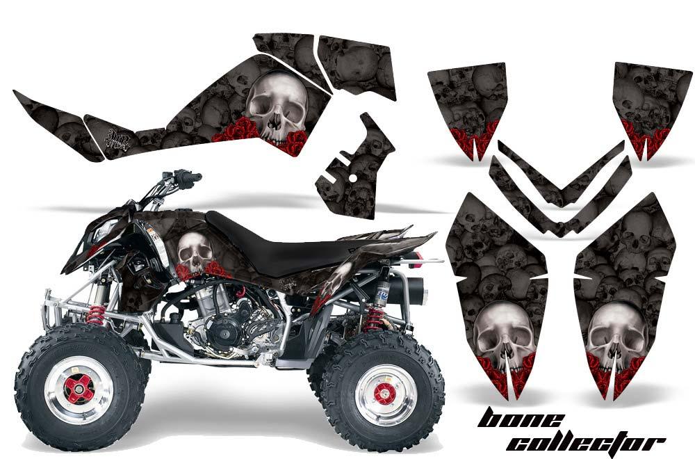 Polaris Outlaw 450,500,525 ATV Graphics: Bone Collector - Black Quad Graphic Decal Wrap Kit