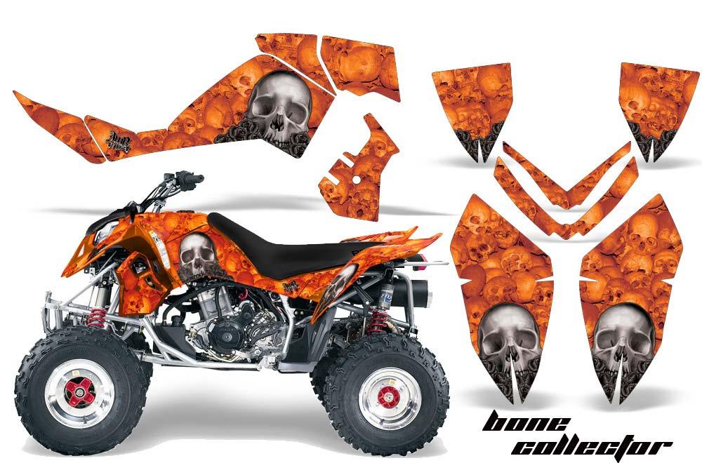 Polaris Outlaw 450,500,525 ATV Graphics: Bone Collector - Orange Quad Graphic Decal Wrap Kit