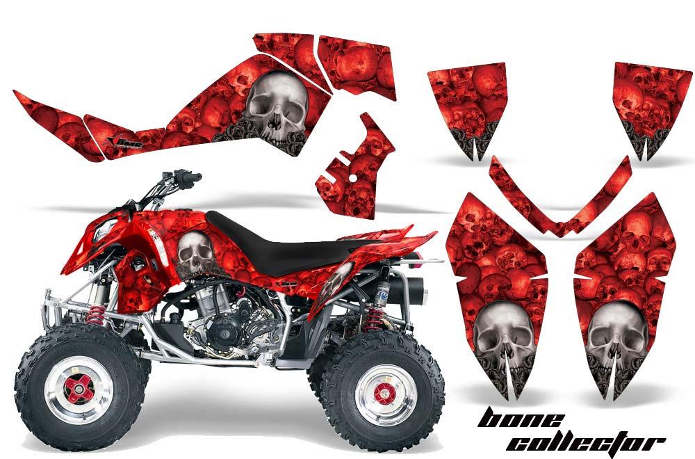 Polaris Outlaw 450,500,525 ATV Graphics: Bone Collector - Red Quad Graphic Decal Wrap Kit