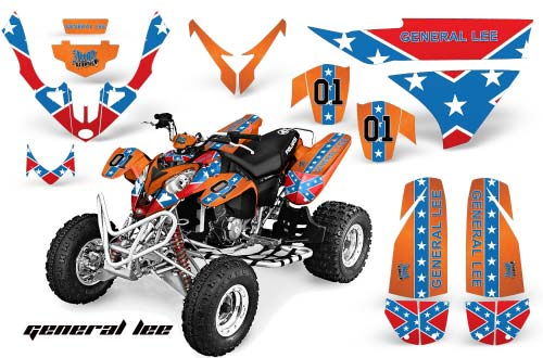 Polaris Predator 500 ATV Graphics: General Lee - Orange Quad Graphic Decal Wrap Kit