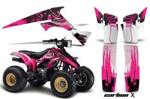 Suzuki LT 230 ATV Graphics: Carbon X  - Pink Quad Graphic Decal Wrap Kit