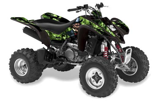 Suzuki Ltz 400 Atv Graphics Mad Hatter Black Silver Quad Graphic