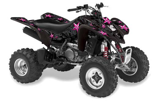 Suzuki LTZ 400 ATV Graphics: Northstar - Chrome Pink Quad Graphic Decal Wrap Kit