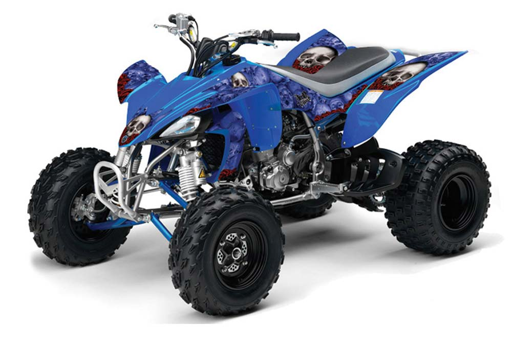 Yamaha YFZ 450 ATV Graphics: Bone Collector - Blue Quad Graphic Decal Wrap Kit