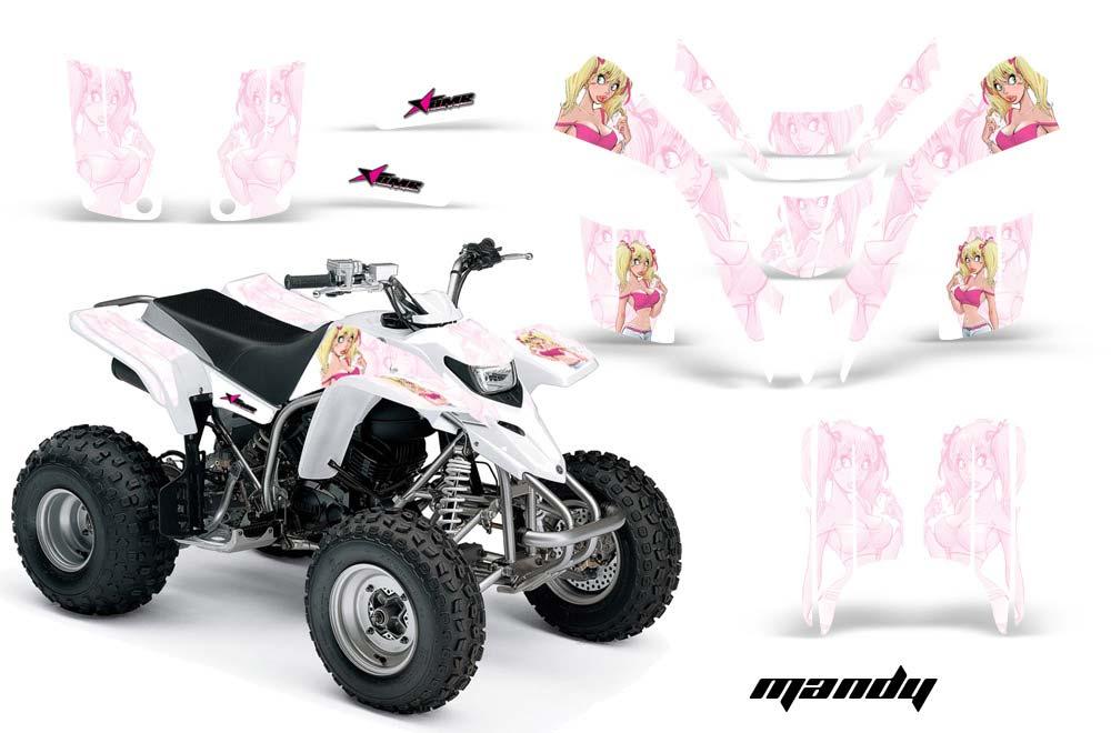 Yamaha Blaster YFS200 ATV Graphics: Mandy - Pink White Quad Graphic Decal Wrap Kit