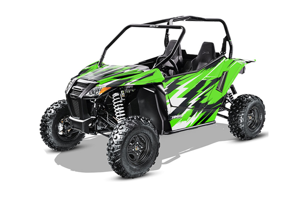 Arctic Cat Wildcat Limited 700 UTV Graphics: Attack - Green Side by Side Graphic Decal Wrap Kit