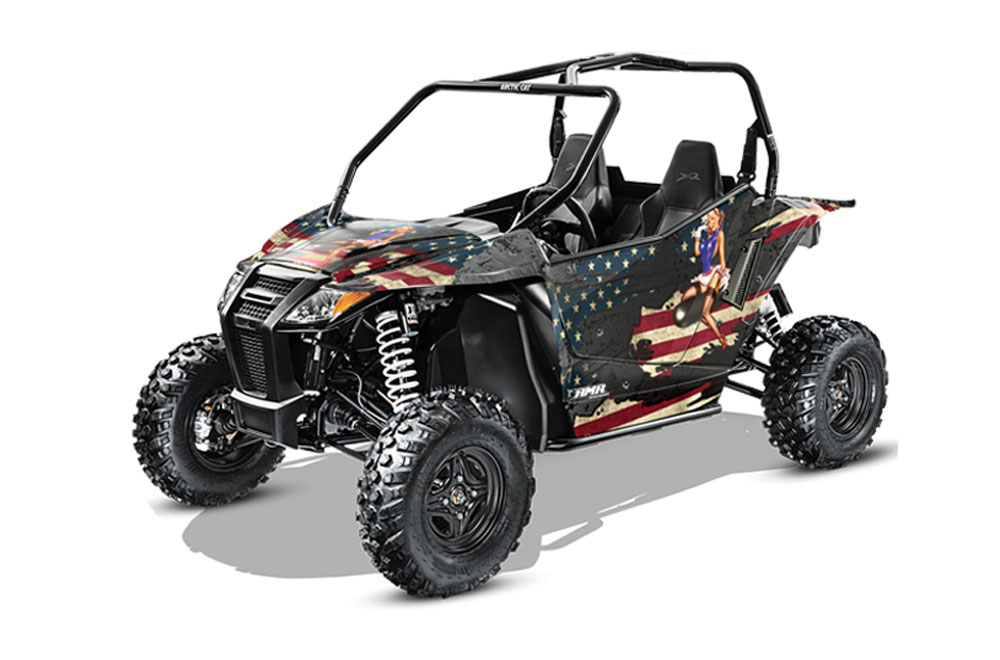 Arctic Cat Wildcat Limited 700 UTV Graphics: WW2 Side by Side Graphic Decal Wrap Kit