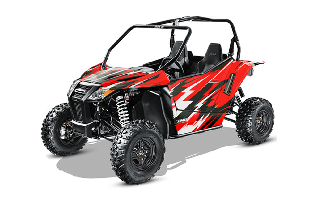 Arctic Cat Wildcat Limited 700 UTV Graphics: Attack - Red Side by Side Graphic Decal Wrap Kit