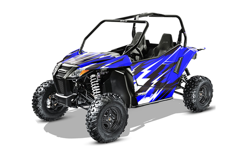 Arctic Cat Wildcat Limited 700 UTV Graphics: Attack - Blue Side by Side Graphic Decal Wrap Kit