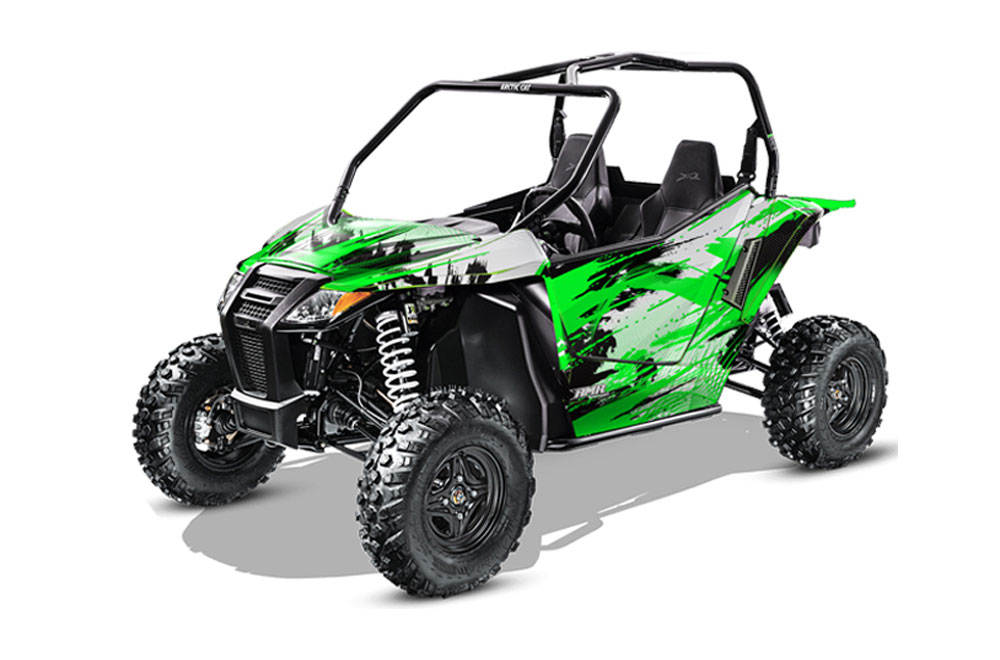Arctic Cat Wildcat Limited 700 UTV Graphics: Carbon X - Green Side by Side Graphic Decal Wrap Kit