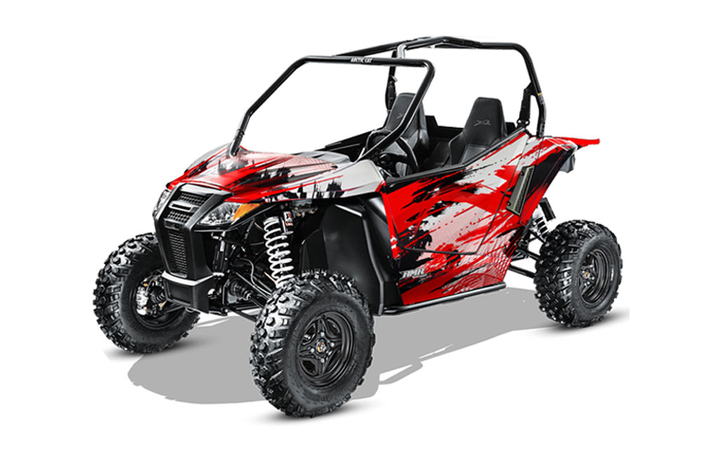 Arctic Cat Wildcat Limited 700 UTV Graphics: Carbon X - Red Side by Side Graphic Decal Wrap Kit