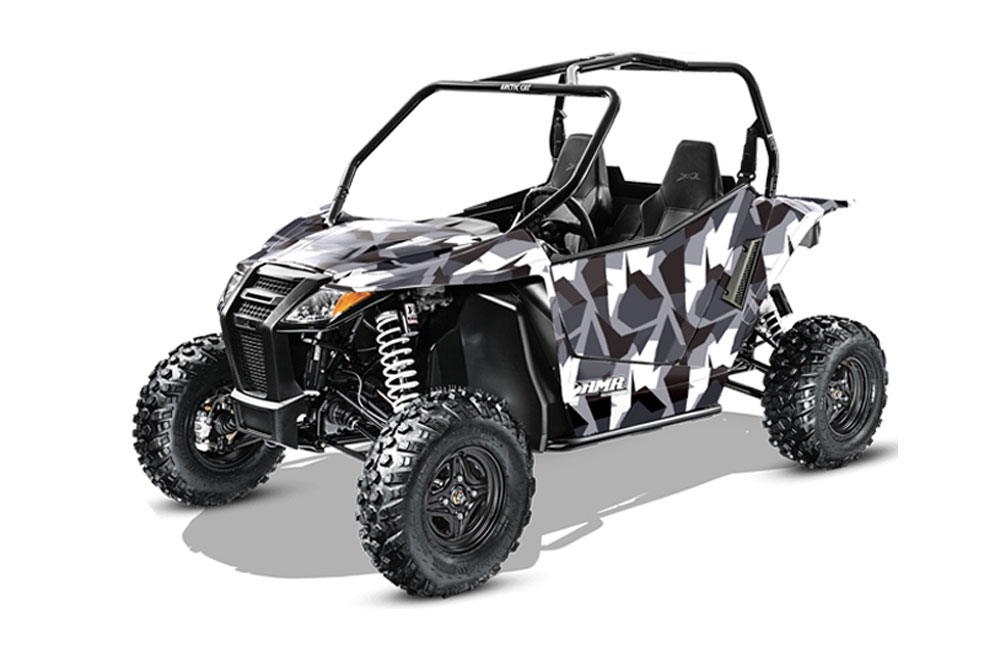 Arctic Cat Wildcat Limited 700 UTV Graphics: Special Forces - Silver Side by Side Graphic Decal Wrap Kit