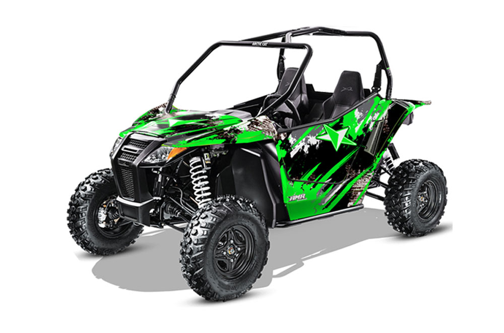 Arctic Cat Wildcat Limited 700 UTV Graphics: Street Star - Green Side by Side Graphic Decal Wrap Kit