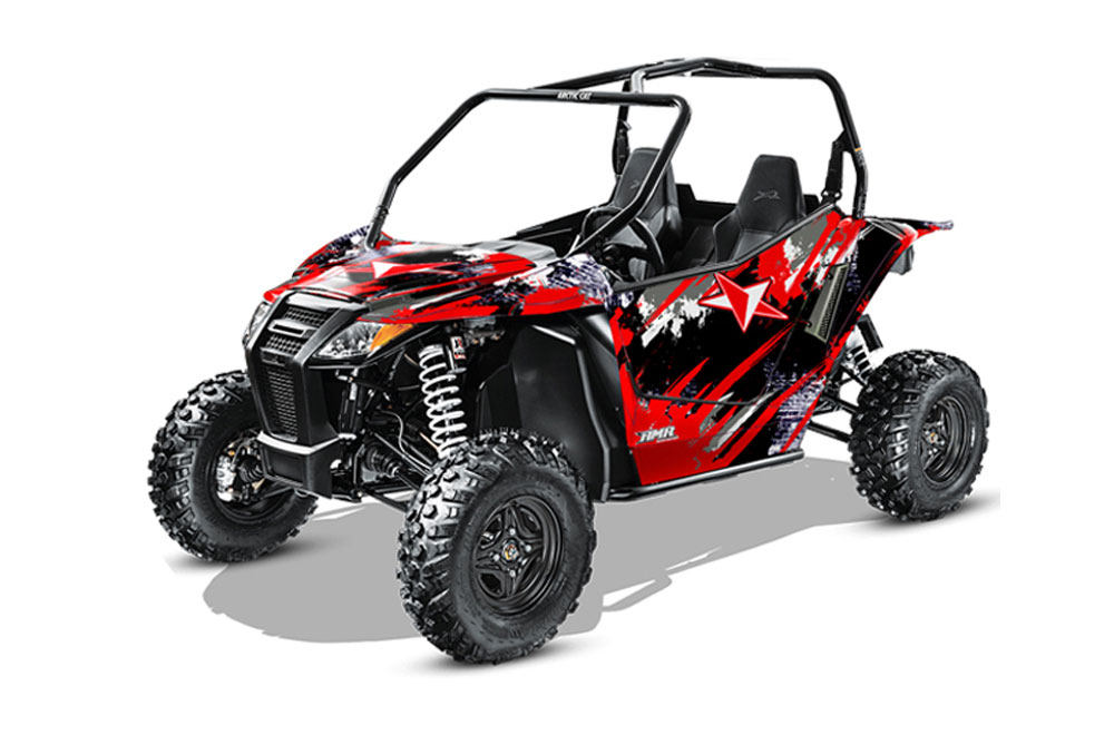 Arctic Cat Wildcat Limited 700 UTV Graphics: Street Star - Red Side by Side Graphic Decal Wrap Kit
