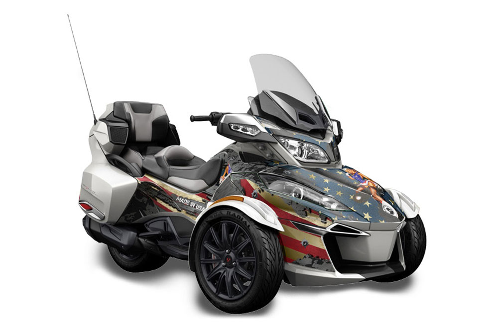 Can Am Roadster >> Can Am Brp Rts Spyder Graphics 2014 2016 Ww2 Roadster Graphic Decal Wrap Kit