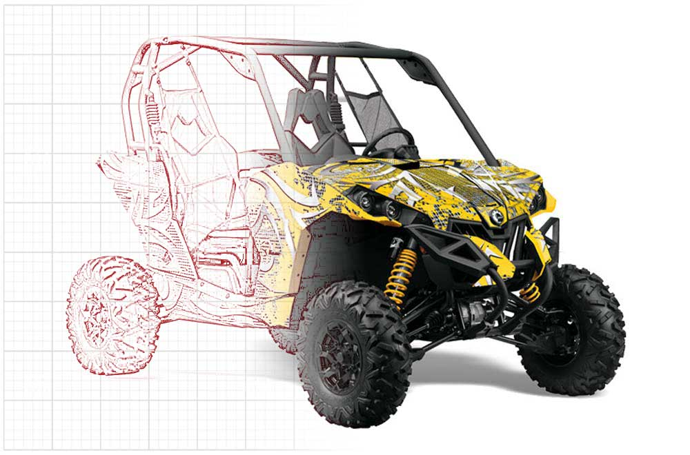 Custom Can-Am Maverick 1000 X RS R UTV Graphics (2013-2016)