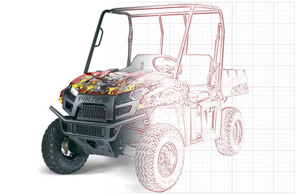 Custom Polaris Ranger EV Electric Graphics (2009-2015)