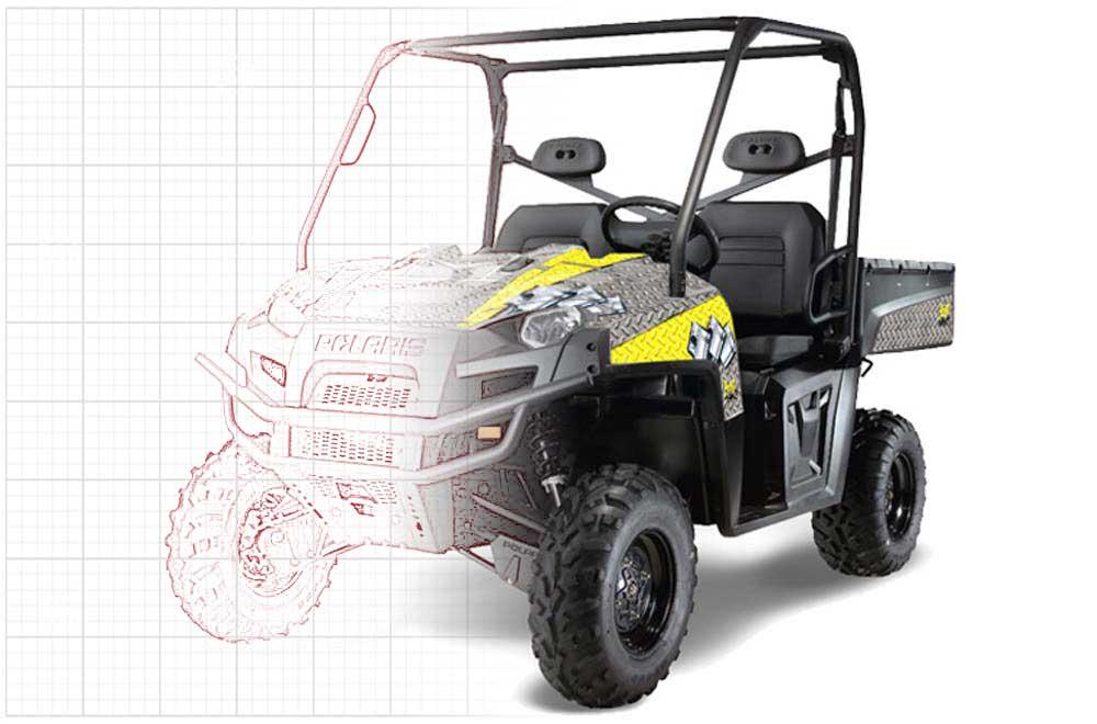 Custom Polaris Ranger XP 500/800/900D 4x4 EFI UTV Graphics (2010-2014)