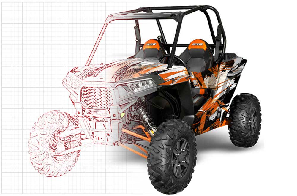 Custom Polaris RZR 1000 XP Graphics (2013-2016)