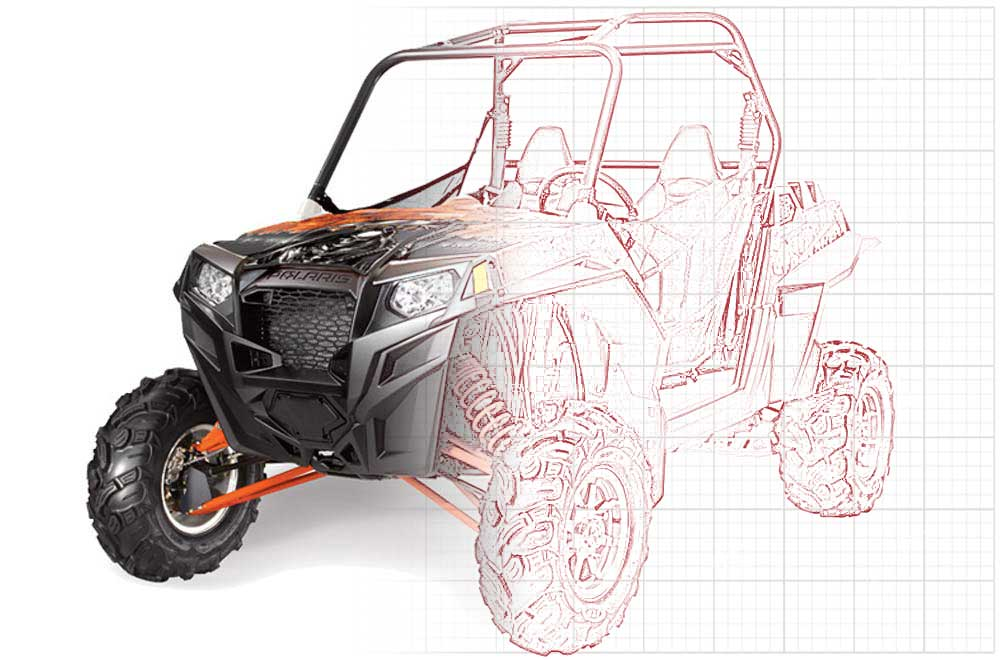 Custom Polaris RZR 900 XP UTV Graphics (2011-2014)