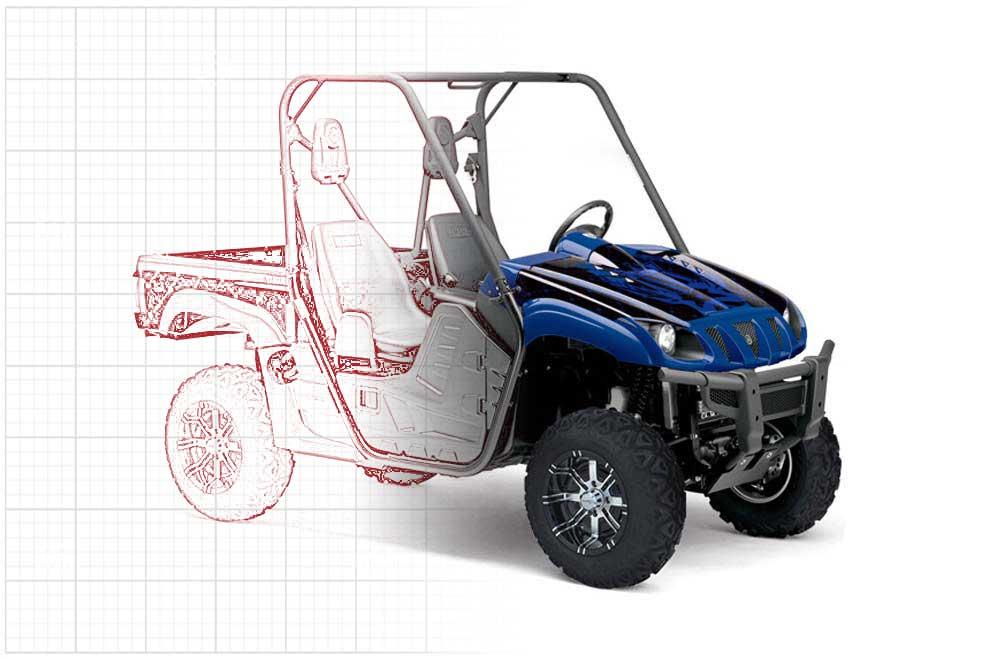 Custom Yamaha Rhino 700/660/450 Custom UTV Graphics (2004-2012)