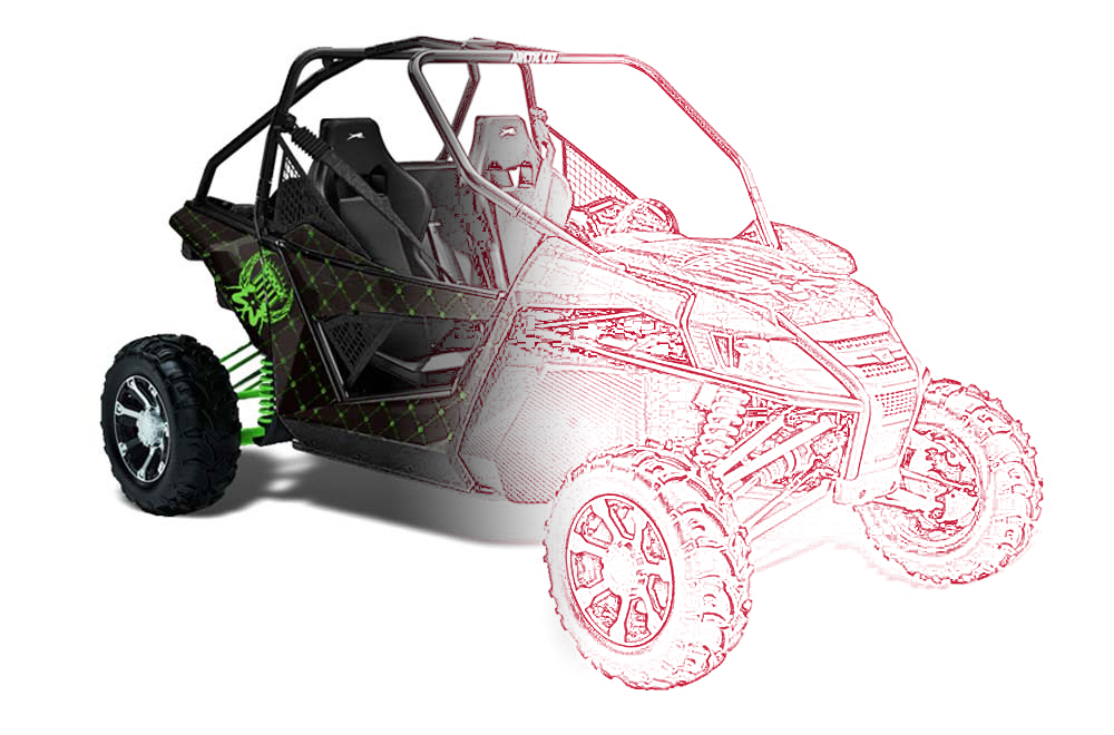 Arctic Cat Wildcat Custom UTV Graphics: Side by Side Custom Graphic Decal Wrap Kit