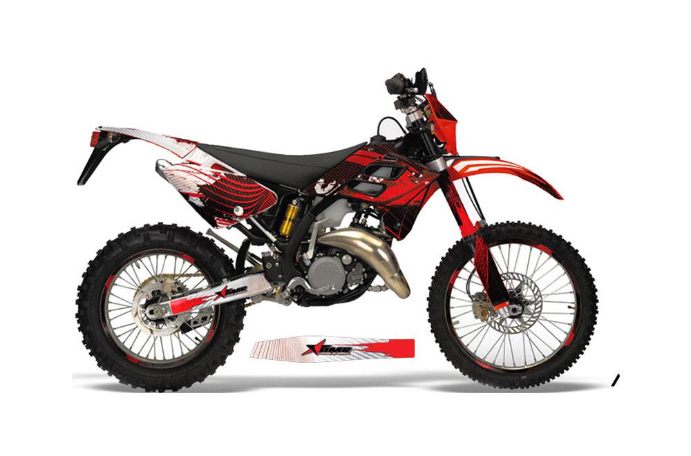 Gas Gas EC 300 Dirt Bike Graphics: Carbon X - Red MX Graphic Wrap Kit (2006-2008)