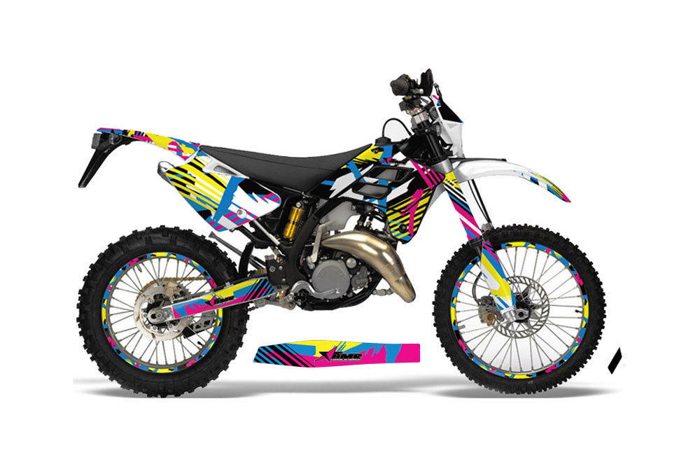 Gas Gas EC 300 Dirt Bike Graphics: Flashback - MX Graphic Wrap Kit (2006-2008)
