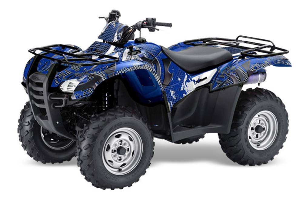Honda Rancher AT ATV Graphics: Deaden - Blue Quad Graphic Decal Wrap Kit