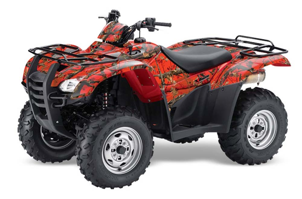 Honda Rancher AT ATV Graphics: Fire Camo Quad Graphic Decal Wrap Kit