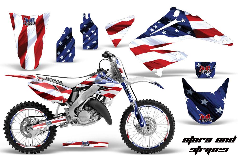 Honda CR Dirt Bike Graphics Stars And Stripes MX Graphic - Decal graphics for dirt bikes