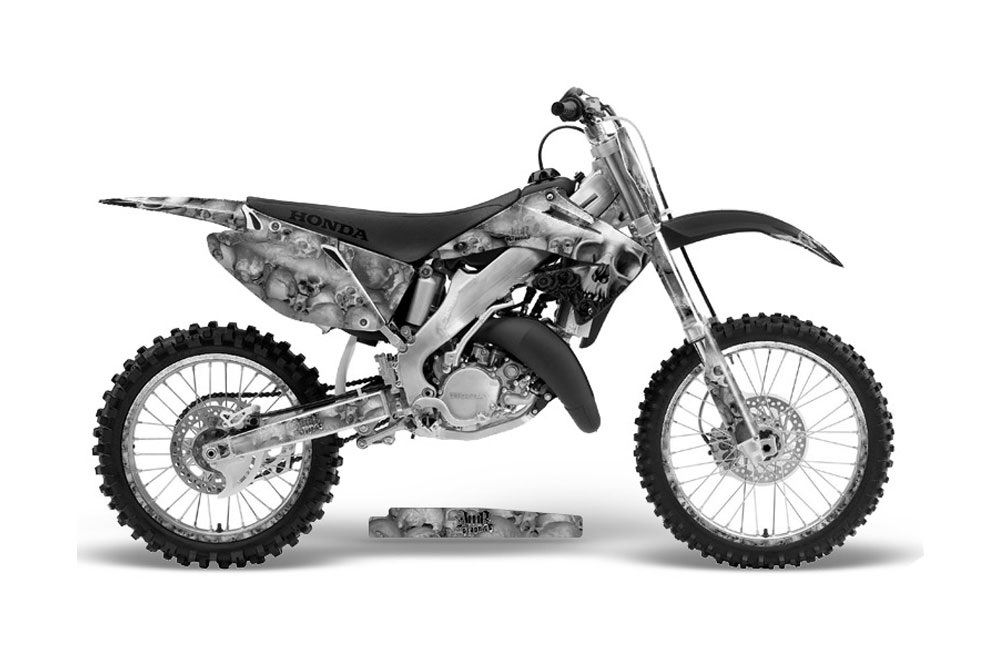 honda cr250 dirt bike graphics  bone collector