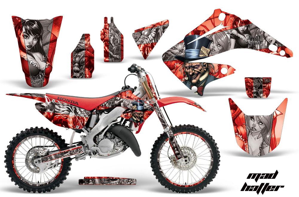 Honda CR Dirt Bike Graphics Mad Hatter Red MX Graphic Decal - Decal graphics for dirt bikes