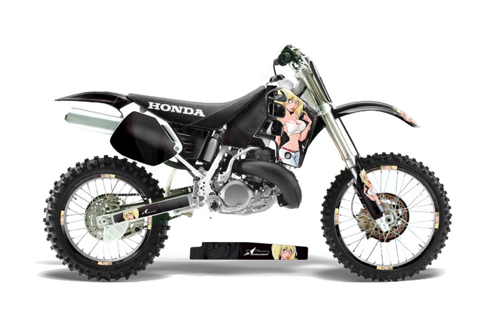 Honda CR500 Dirt Bike Graphics: Mandy - Black MX Graphic Decal Wrap Kit