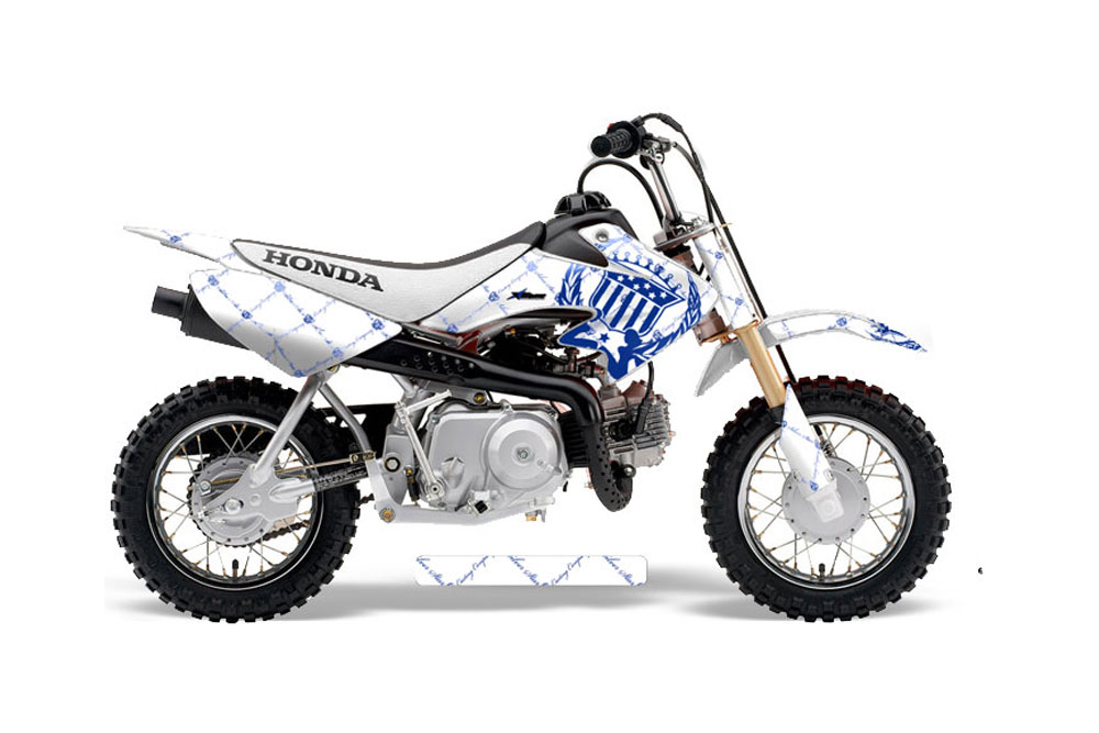 honda crf50 dirt bike graphics  urban camo
