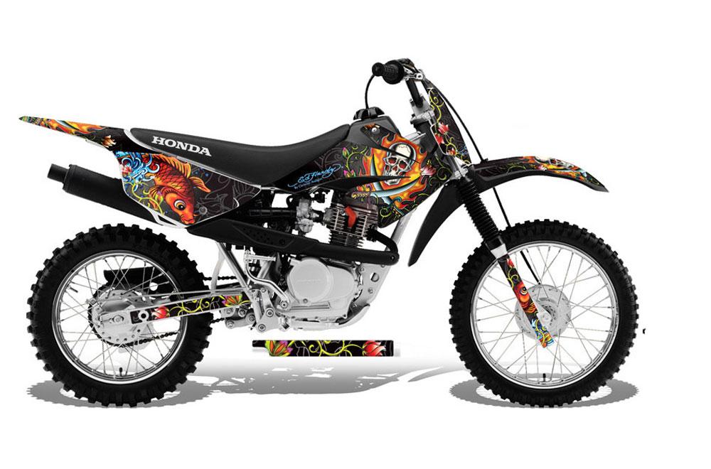 Honda Crf 80 >> Honda Crf80 Dirt Bike Graphics 2011 2016 Firestorm Black Mx Graphic Decal Wrap Kit