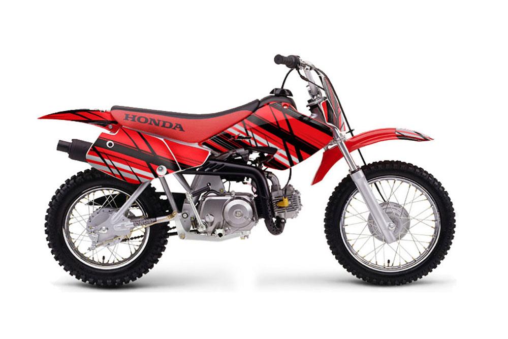 Honda XR50 Dirt Bike Graphics: Bone Collector - Black MX Graphic Decal Wrap Kit
